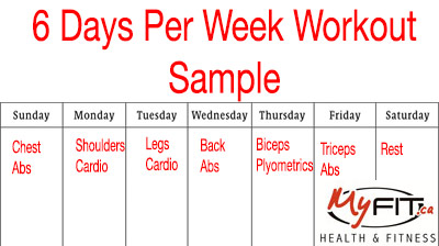 6 Day Per Week Workouts List