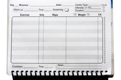 workout log weight training journal and log book